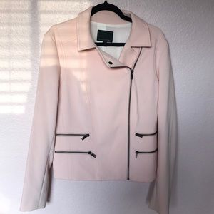 BNWT banana republic pink Moto jacket 14tall